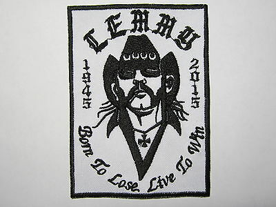 LEMMY Motorhead embroidered NEW patch