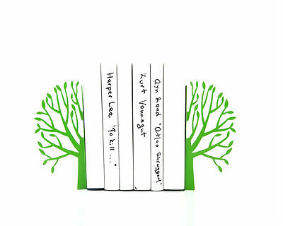 Atelier Article - Gift Steel bookends - Spring trees (Green)