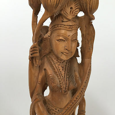 Antique Indian Sculpture—beatifully hand-carved hardwood piece