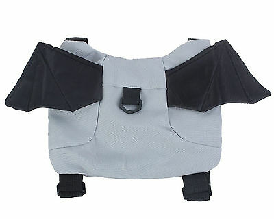 Toddler Bat Safety Harness Backpack - Gray and Black