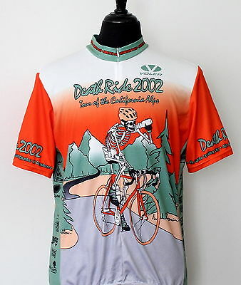 2002 DEATH RIDE voler CYCLING JERSEY size X-LARGE