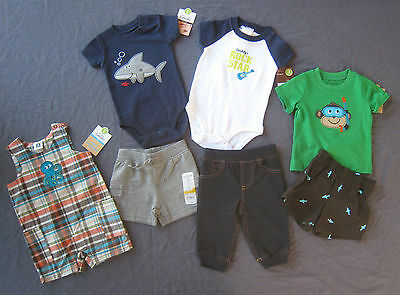 NEW 3 Month Baby Boy Summer clothes LOT shorts overalls Romper Bodysuit Pant NWT