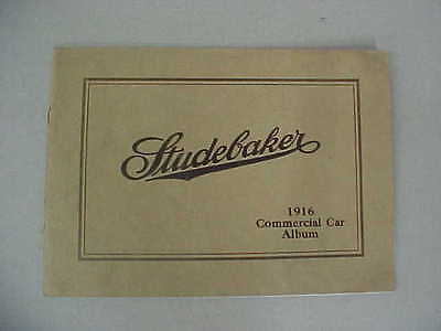 Vintage 1916 Studebaker Commercial Car Album (Catalog) 16 Pages