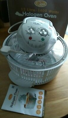 Quest Electrical 12 Liter 1400 Watts Halogen Oven Variable Temperature Control