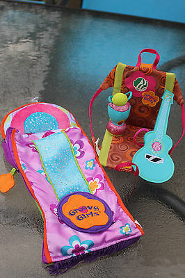 Groovy Girls Camptacular Chair Set W/Chair, Lamp, Guitar and Extra Sleeping Bag