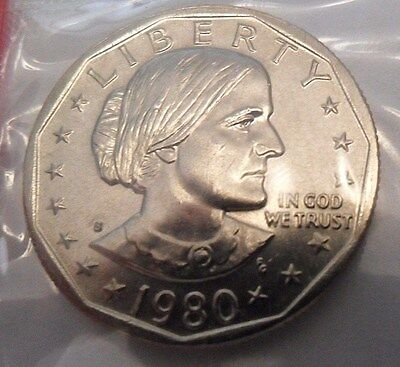 1980 S Susan B. Anthony (Sba) Dollar Coin *mint Cello*  **free Shipping**