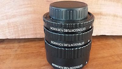 Xit Auto Focus Macro Extension Tube Set For Nikon 12mm/20mm/36mm