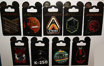 Disney Star Wars Rogue One 9 Pin Set Newly Released