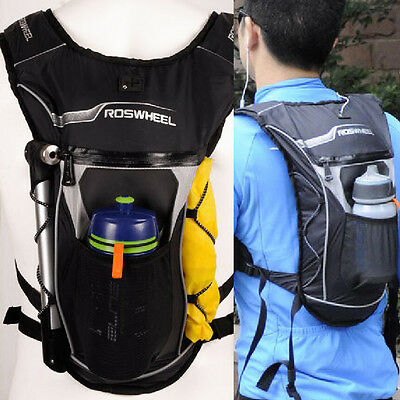 4L Cycling Bicycle Backpack + Hydration Shoulder Bag Hiking Water Bag AO