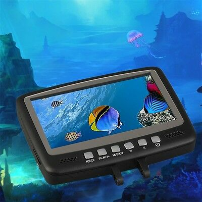 DVR Fish Finder Video Underwater Fishing Camera 4.3 Monitor Night Vision 15m AO