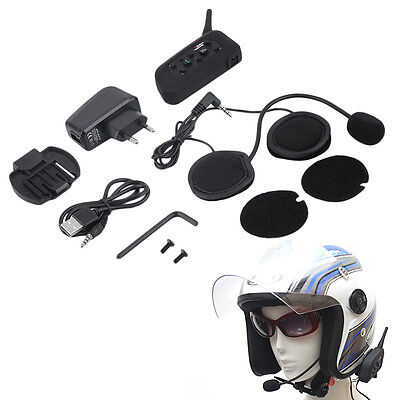 V6 1200m Casco Interfono AO para motocicletas Bluetooth Intercom AH