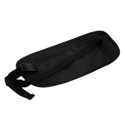 Travel Pouch Hidden Zippered Waist Compact Security Money Waist Belt Bag AO