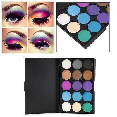 Professional 15-Color Matte Shimmer Eyeshadow Palette Makeup Cosmetic kit New AO