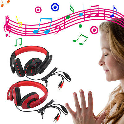 3.5mm Surround Stereo Gaming Headset Headband Headphone with Mic for PC New AO