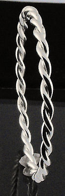 """Small Child's Bangle Double Twist Solid Silver Plated Creola Bangle 51mm - 2"""""""