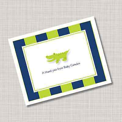 12 Custom Personalized Baby Alligator Note Cards
