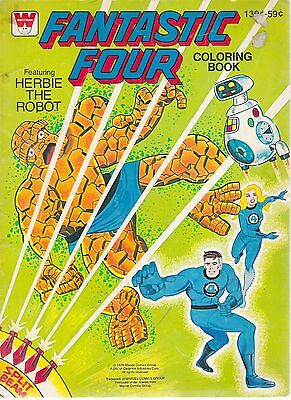 Fantastic Four Coloring Book Featuring Herbie the Robot - BUY IT NOW!