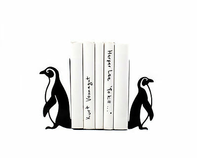 Atelier Article - Gift Steel bookends - Penguins (Black)