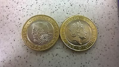 Gb £2 (Two Pound) Coin - William Shakespear - Issued 2016 - Circulated