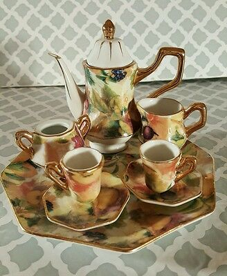 Formalities by BAUM BROTHERS, 9 Piece Floral Miniature Tea Set t11