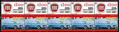 FIAT 50th ANNIVERSARY STRIP OF 10 STAMPS, FIAT 1200