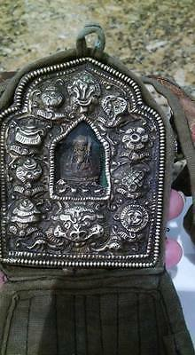 Antique Silver Tibetan traveling Prayer Box