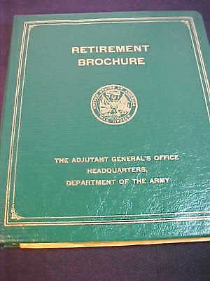 1969 Binder Style United States Army Retirement Brochure
