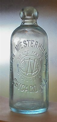 Charles Westerholm Chicago, Illinois Antique Blob Top Hutchinson Soda Bottle