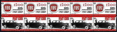 FIAT 50th ANNIVERSARY STRIP OF 10 STAMPS, FIAT 1200 #3