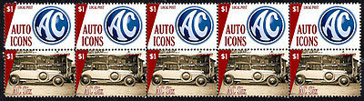 Ac Auto Icons Strip Of 10 Stamps, Ac Six