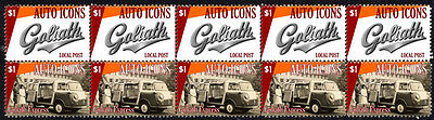 Goliath Auto Icons Strip Of 10 Stamps, Goliath Express