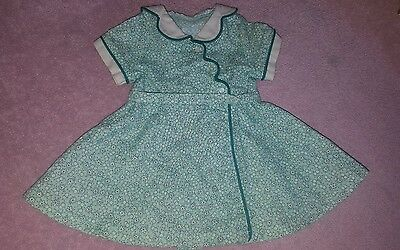 American girl doll kit green calico birthday dress