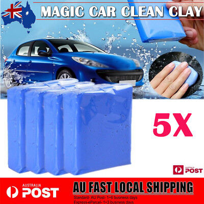 4Pcs Detailing Cleaning Bar Magic Car Clean Clay Sludge Mud Remove Wash Tool AU