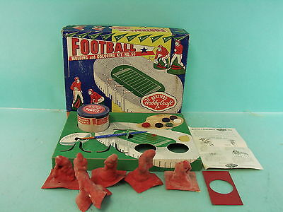 Vtg Early Football Player Molding & Coloring Kit No. 55 Bersted's Hobby Craft
