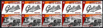 Goliath Auto Icons Strip Of 10 Stamps, Goliath Gd750