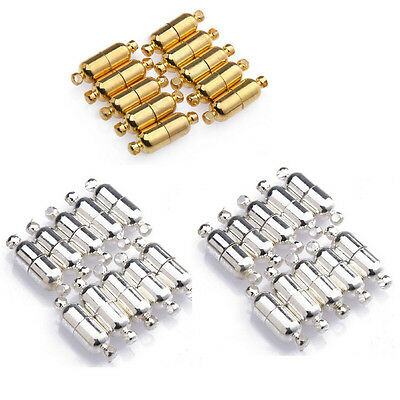 10Pcs Silver/Gold Plated Bullet Magnetic Clasp Hook Connector Findings 19x6MM