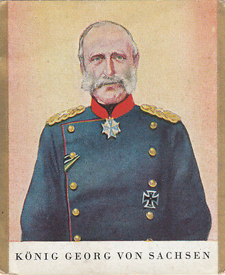 General King Georg von Sachsen Prussia Prusse Germany IMAGE CARD 30s