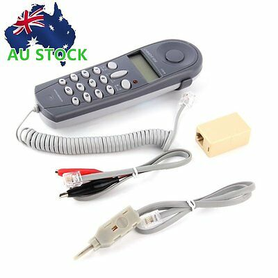 Telephone Phone Butt Test Tester Lineman Tool Cable Set Professional Device YY