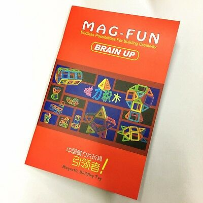 Magnetic Magformers Building Toys Construction Blocks Instructions Book EA23