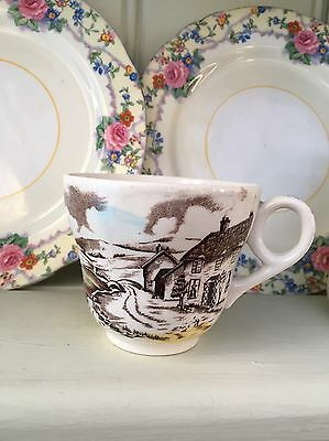 Vintage Teacup - Quiet Day W H Grindley Tunstall England