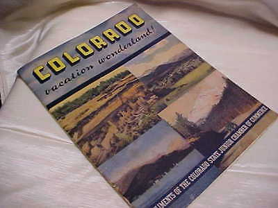 Vintage 1940's Colorado Vacation Wonderland Guide Book Sightseeing Item Rare