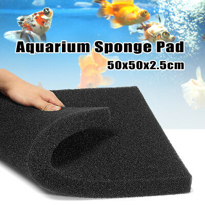 50x50cm Biochemical Filter Foam Pond Filtration Fish Tank Aquarium Sponge Pad