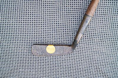 Antique Hickory Shaft MacGregor Brass Perfection Dayton Country Club IvoraPutter