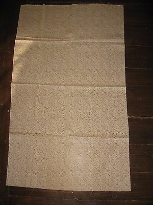 Brown & Pink Early Antique Calico Cloth Yardage