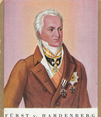 Prince Karl August von Hardenberg Prussia Napoleon War Germany IMAGE CARD 30s