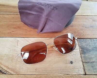 Oliver Peoples Sunglasses Victory 58 Gold /Cognac Lens Brad Pitt & Burn Notice