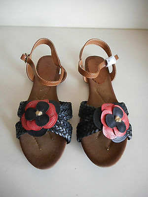Womens 'Wilde' Black & Tan Sandals - Size 10 BRAND NEW - Cute & Comfy