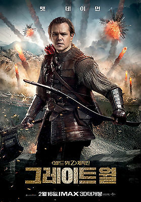 The Great Wall Matt Damon 2017 Korean Mini Movie Posters Movie Flyers (A4 Size)