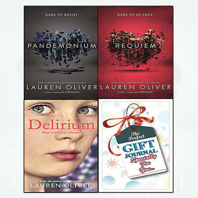 Delirium Trilogy Series 3 Books Collection With Journal Set By Lauren Oliver NEW