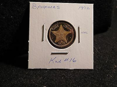 Bahama Islands:   1972    1 Cent  Coin Proof   (Unc.)    (#2418)  Km # 16